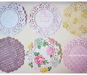 Parisian Lace Doily Ribbon & Floral for Scrap booking or card making / pack