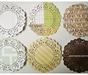 Parisian Lace Doily This & That 2 for Scrap booking or card making / pack