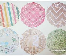 Parisian Lace Doily The Pier 4 for Scrap booking or card making / pack