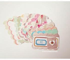 Scallop Cloud Shape Tags
