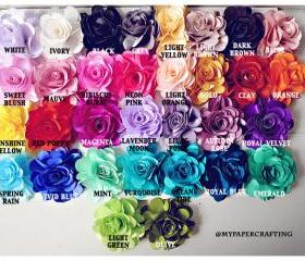10 Satin Rose flowers WHOLESALE