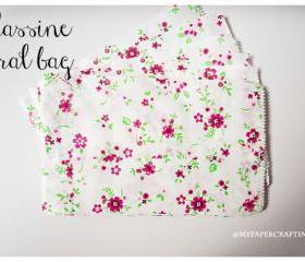 10 Floral glassine/ pattern paper bag 
