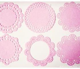 6 different Doily Felt / pack