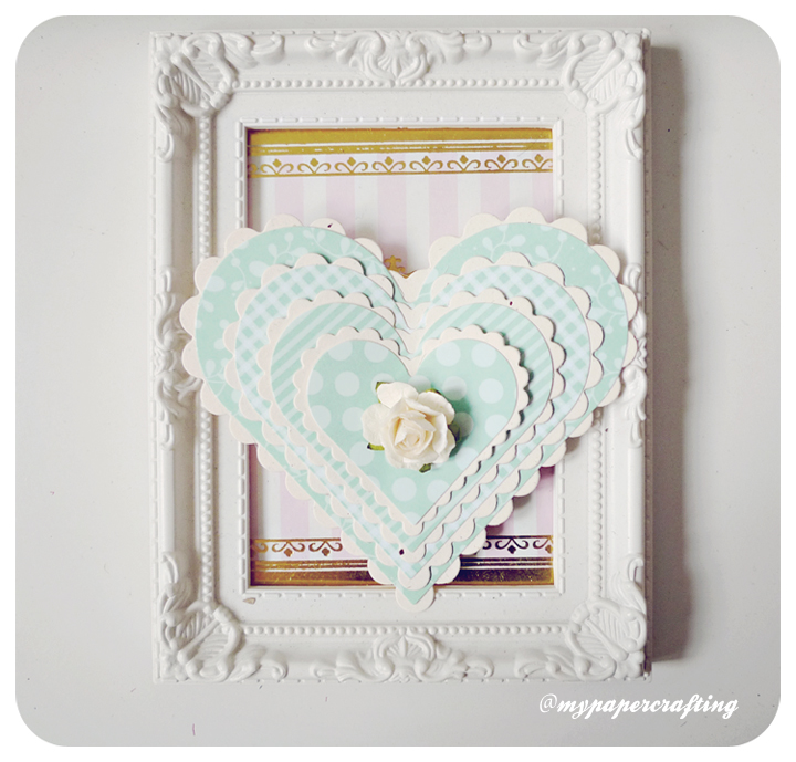 Valentine Day Layered Heart-shaped card