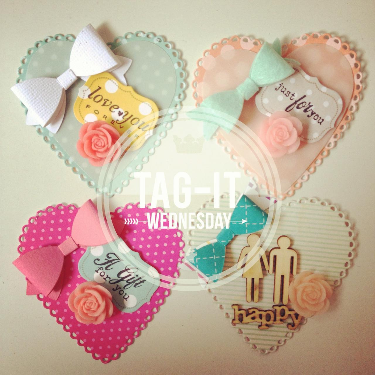 Valentine Heartshape Bow Tags