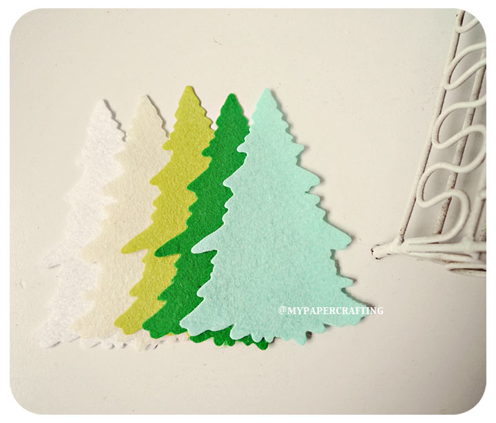 Christmas Tree Felt / pack
