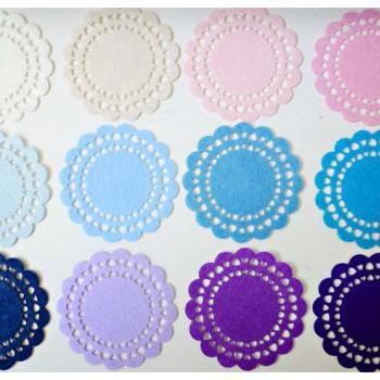 Doily Felt / Felt Doily for card making or scrap booking - Design #3