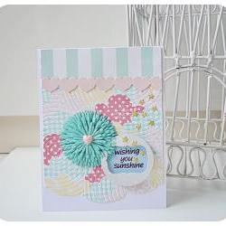 wishing sunshine handmade card