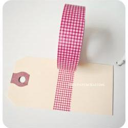 Washi Tape Red Grid