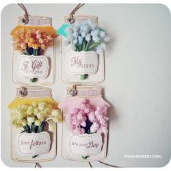 Candy Flower Jar Tag  