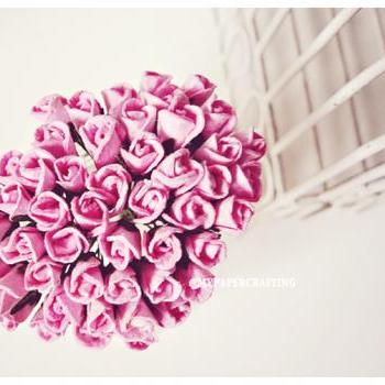 10 Mulberry mini paper Rose Buds flower / pack